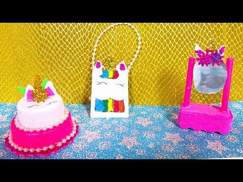 DIY Miniature UNICORN Barbie Princess DOLL CRAFTS & Accessories