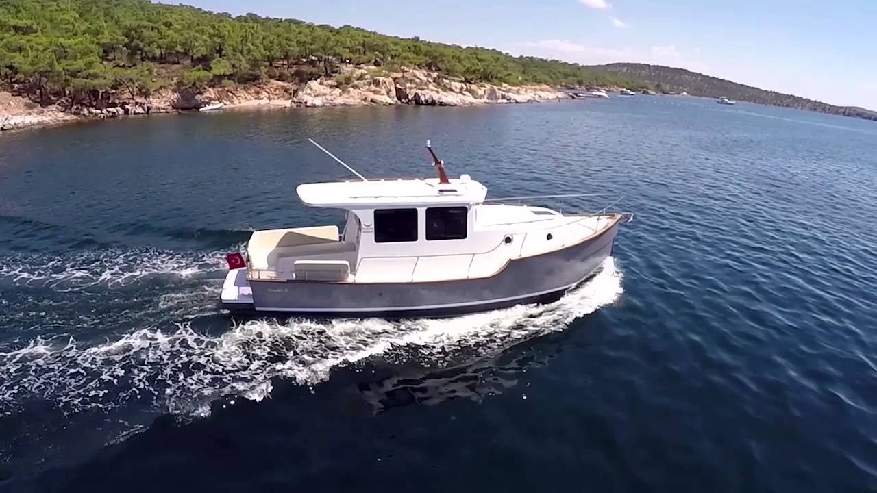 North Aegean Yachts Trawler 30 YouTube