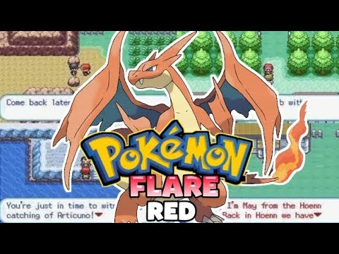 Pokemon Flare Red [Beta] - GBA Game With New Rivals,New