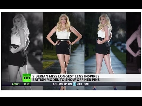Siberian lawyer & Miss Long Legs inspires UK model