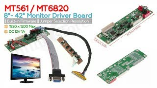 MT6820 MT561 Universal LCD Driver Board || Assembly Monitors VGA Driver Board