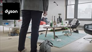 need to clean up in a hurry the dyson v6 cordless vacuums are on hand official dyson video