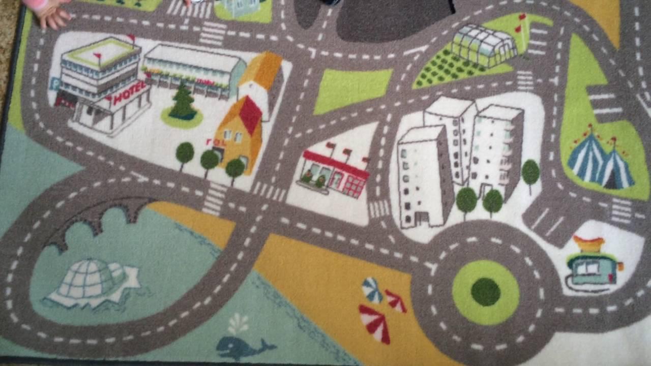 👍Трек, Трасса 🚦 Детский ковер Ikea 🚗Распаковка и обзор 🚄 Ж/Д .
