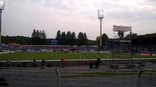 Darmstadt 98 gegen St.Pauli vor dem Anpfiff und Aufstieg 24.05.2015