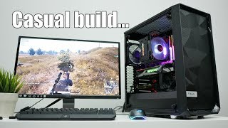 Casual Gaming PC build on the Fractal Design Meshify C