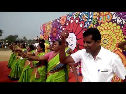 சிங்கை-வள்ளி கும்மி Pongal Celebration at K'Sirs International School, Coimbatore.