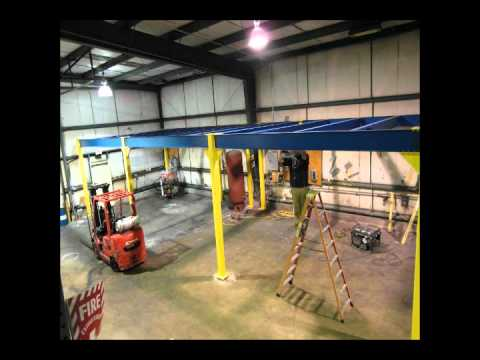 Porta-King Structural Steel Mezzanine Installation