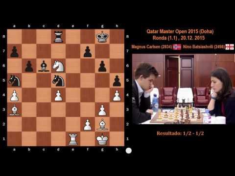 Magnus Carlsen (2834) Noruega - Nino Batsiashvili (2498) Georgia - 2015