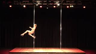 2018 US Pole Dance Championship Novice Level 2 Sexy Division - Maddie