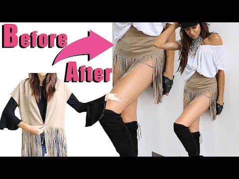 NEW! Summer Lovin Fashion Hack - DIY Skirt - NO SEWING