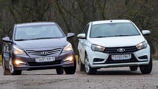 Lada Vesta and Hyundai Accent (Solaris)