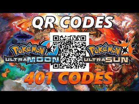 Pokémon Ultra Sun And Moon 100 Qr Codes Youtube