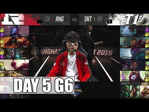 Royal Never Give Up vs SK Telecom T1 | Day 5 Mid Season Invitational 2016 | RNG vs SKT G2 MSI 1080p