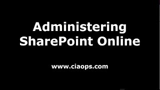 Administering SharePoint Online