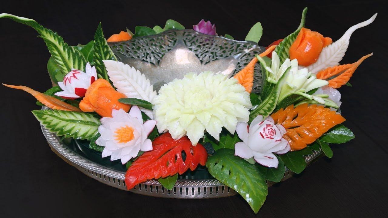 Vegetable carving step by step procedure - Simple Fruit And Vegetable Carving