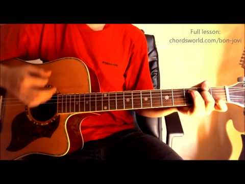 How To Play Wanted Dead Or Alive Guitar Lesson 2 Verse смотреть ...