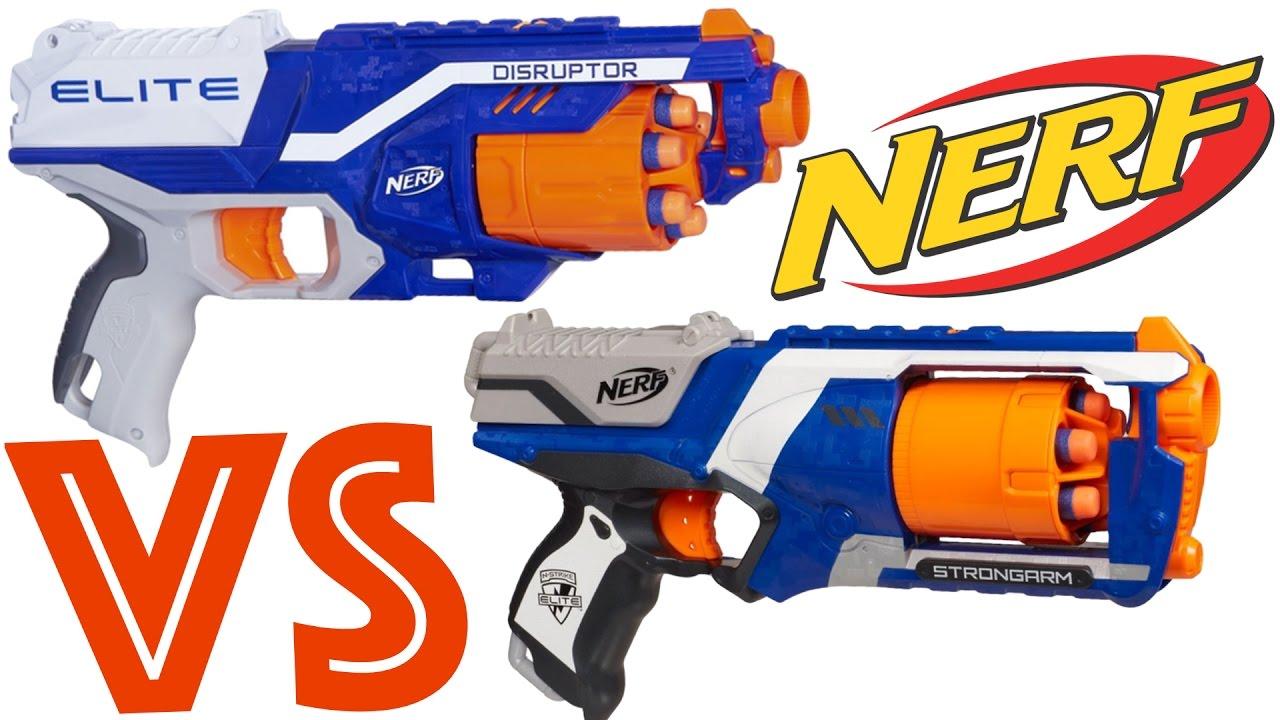 NERF Kids N-Strike SharpFire Blaster Hand Gun Attachments Short Long Barrel Toy