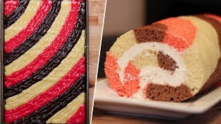 Neapolitan Swiss Roll Review- Buzzfeed Test #132