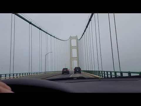 High winds Macinac bridge