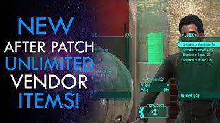 Fallout 4 - NEW VENDOR GLITCH AFTER PATCH (Infinite FREE Items)