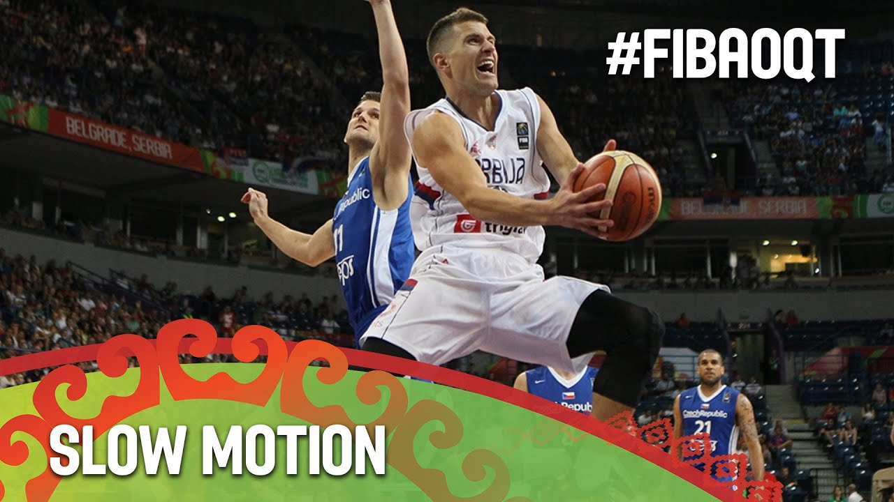 Serbia v Czech Republic in slow motion!