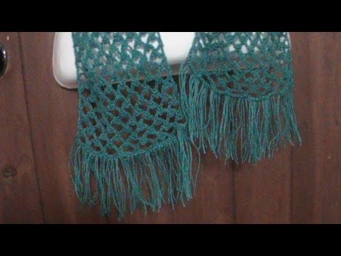 Como tejer una bufanda calada a crochet. - YouTube