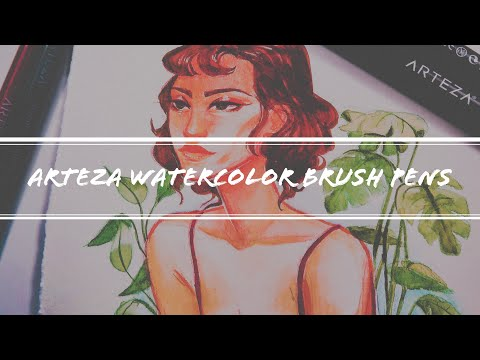 Arteza Review | Painting with Watercolor Brush Pens