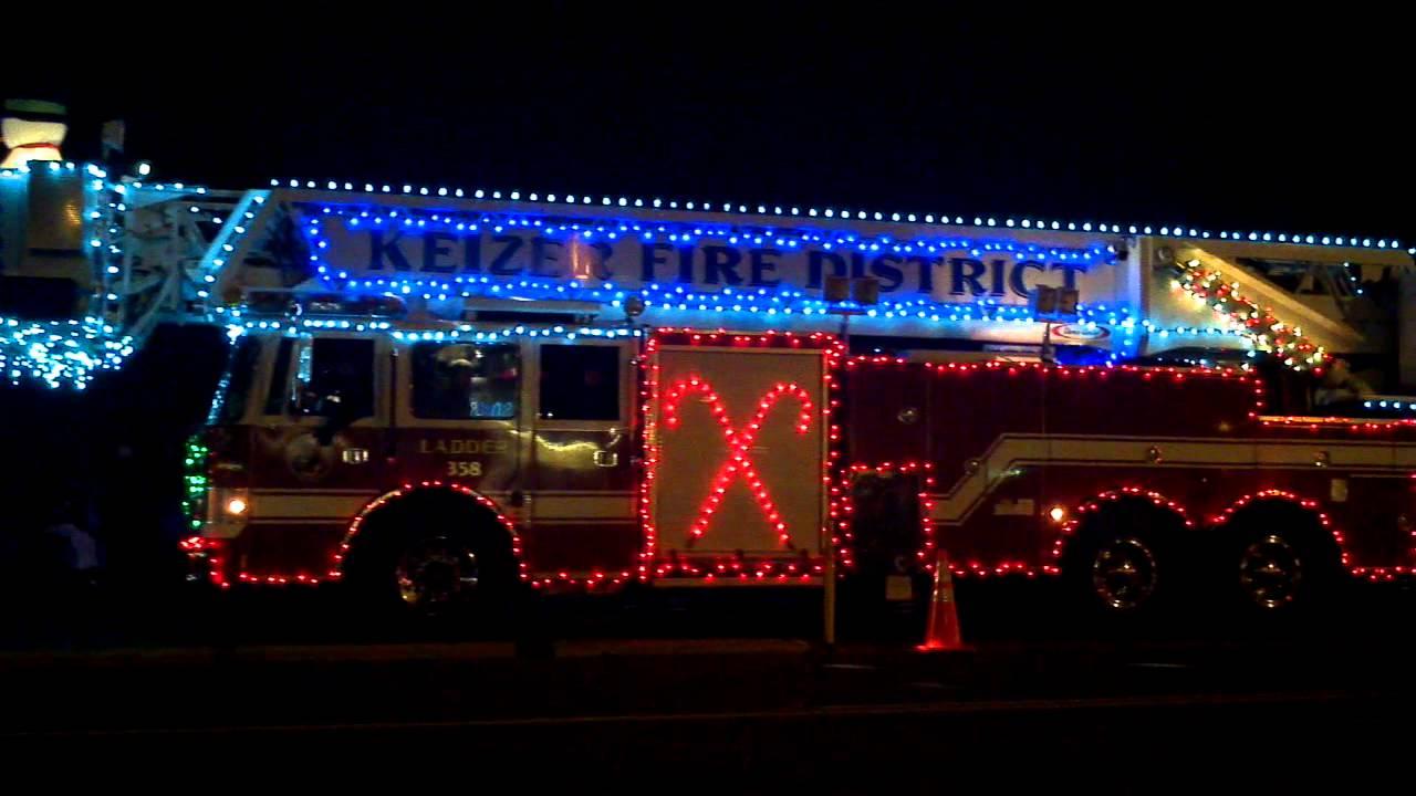 Keizer festival of lights. Cool firetruck - YouTube
