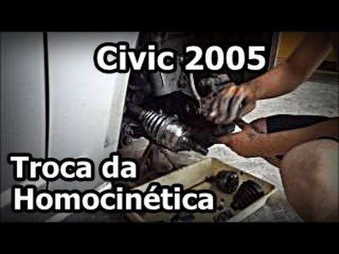 Civic 2005 - TROCA DA HOMOCINÉTICA - CV Joint