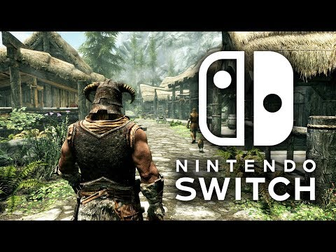 Skyrim Nintendo Switch Gameplay -  Docked Direct Capture & Impressions