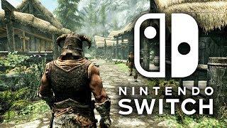 Skyrim Nintendo Switch Gameplay -  Docked Direct Capture & Impressions