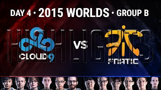 Cloud 9 vs Fnatic Highlights | 2015 LoL World Championship S5 - Group B D4G4 | C9 vs FNC
