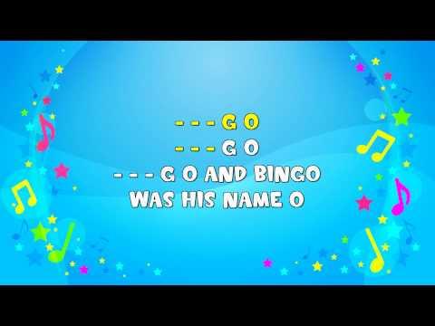 B I N G O | Sing A Long | Bingo | Clapping Song | Nursery Rhyme | KiddieOK