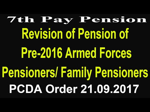 7th Pay_Revision of Pension of Pre-2016 Armed Forces Pensioners / Family Pensioners_Govt Employees