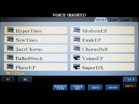 Yamaha PSR-S970 Voice Demos P9: Legacy Pno, Orgn & Prec