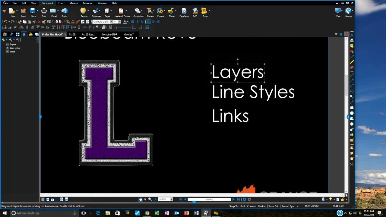 Bluebeam Revu Layers, Line Styles, and Links Webinar