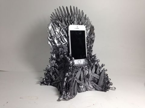 iron throne chair cover mesh seat office diy game of thrones phone stand youtube