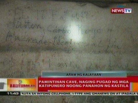 BT:  Pamintuan cave sa Rizal, naging pugad   ng mga katipunero noong panahon ng   kastila