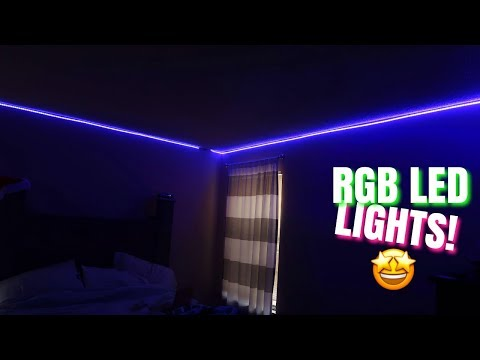 Unboxing & Installing Rgb LED Light Strips (WHOLE ROOM)