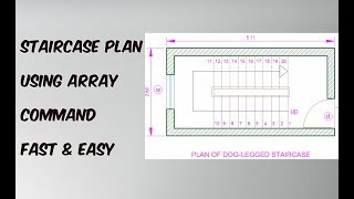 Staircase Plan in AutoCad Fast & Easy