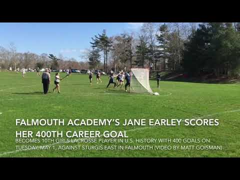Falmouth Academy's Jane Earley scores her 400th career goal