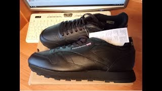 Обзор кроссовок Reebok Classic Leather 2267, Unboxing and review sneakers Reebok Classic