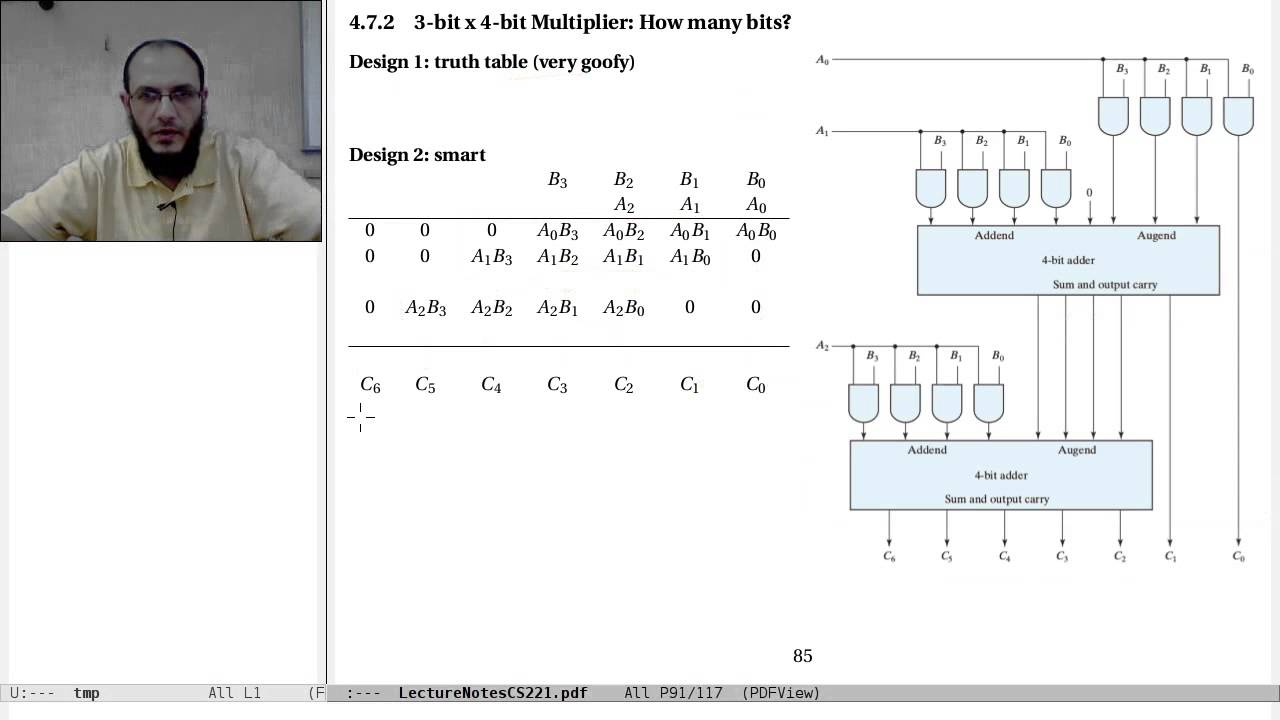 04-c  Combinational Logic: multipliers and comparators