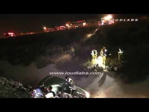 Victim Dies 91 Freeway / Corona   RAW FOOTAGE