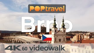 Walking in BRNO / Czech Republic 🇨🇿- Old Town and Castle - 4K 60fps (UHD)