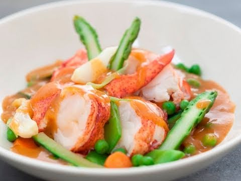 recette de navarin de homard aux l gumes printaniers youtube. Black Bedroom Furniture Sets. Home Design Ideas