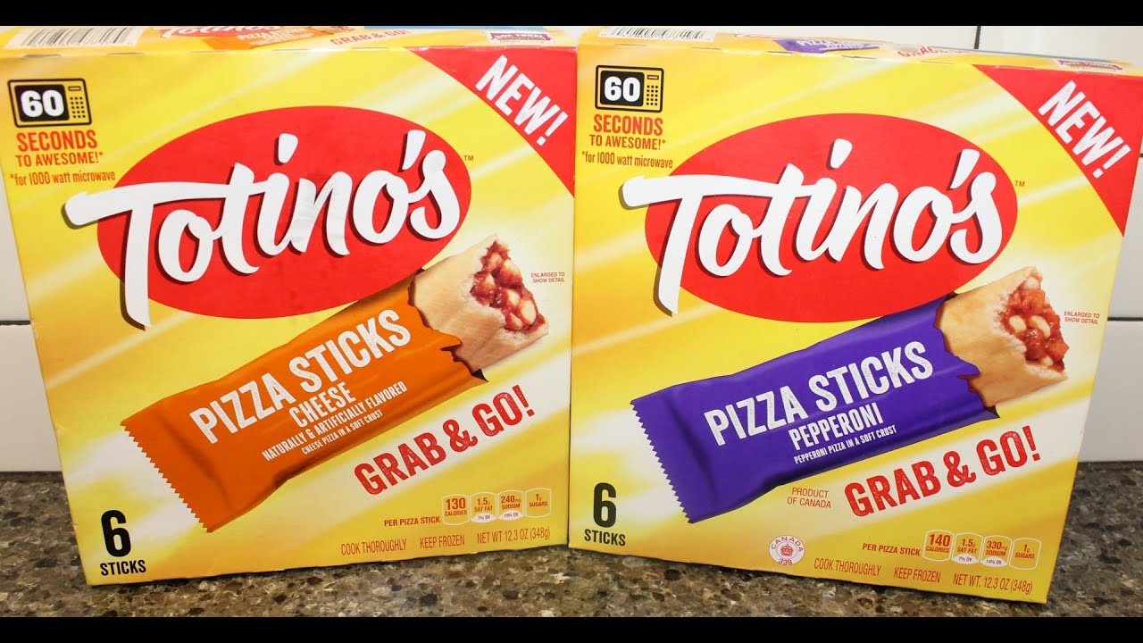 Totinos Grab Go Pizza Sticks Cheese Pepperoni Review Youtube