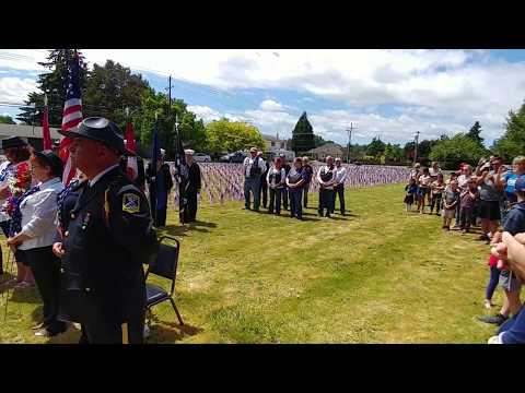 American Legion memorial day at McMinnville Christian academy May 28, 2018