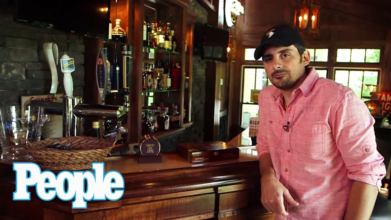 Brad paisley 39 s awesome at home bar people youtube for Paisley house