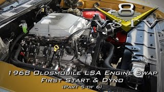 1968 Oldsmobile Cutlass Supercharged 6.2 LSA Engine Install Swap Video Part 5 V8TV